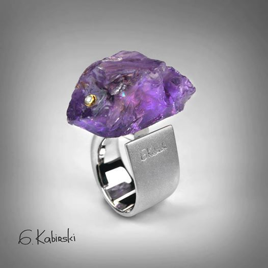 Jewelry | Jewellery | ジュエリー | Bijoux | Gioielli | Joyas | Art | Arte | Création Artistique | Precious Metals | Jewels | Settings | Textures | German Kabirski amethyst #ring