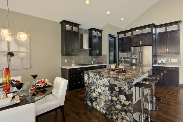 Natural Stone Granite Countertop With Waterfall For