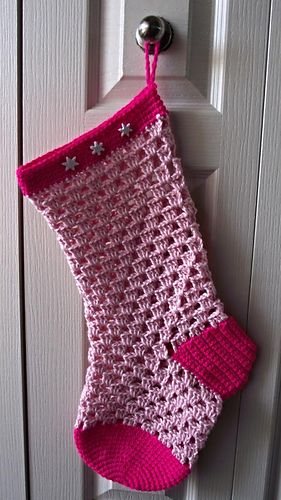 Crochet Stocking- FREE pattern @Connie Hamon Hamon Hamon Brzowski Hunter Gleason