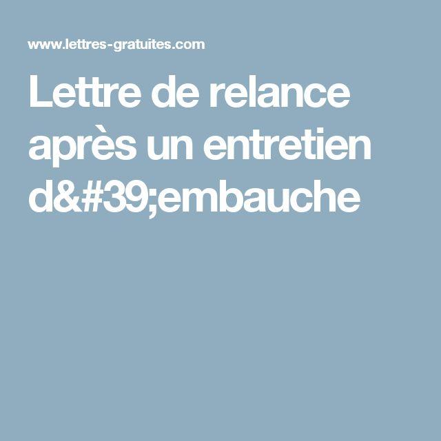 Mail De Relance Apres Entretien Steadlane Club