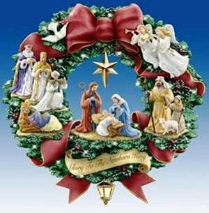 Nativity wreath. I'm going to try and make this. Use your imagination!