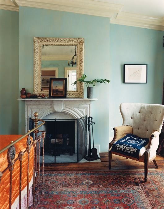 cozy eclecticDecor, Wall Colors, Blue Walls, Beach Bedrooms, Cozy Bedroom, Interiors, Martyn Thompson, Beach House Bedrooms, Beautiful Bedrooms