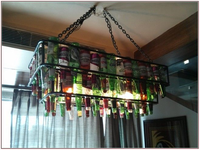 beer bottle chandelier bierflasche kronleuchterbierflaschenkronleuchter - Kronleuchter Bierflaschen