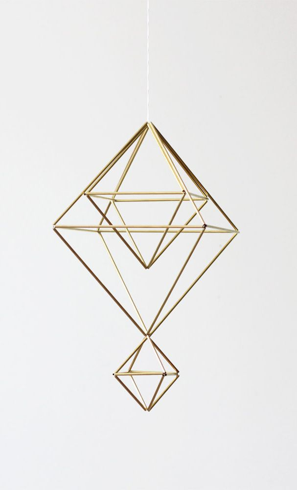 Himmeli no. 6 / Modern Hanging Mobile / Geometric Sculpture
