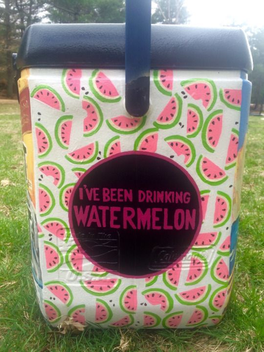 watermelon cooler idea