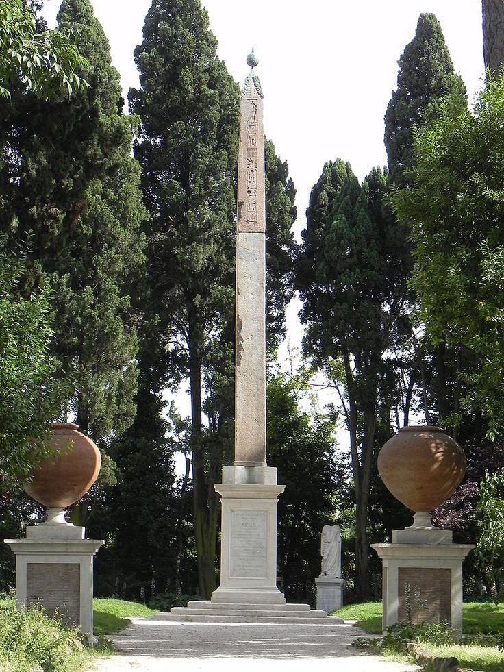 Villa Celimontana Obelisk Liste des obélisques à Rome