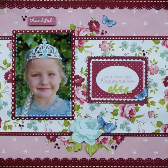 A layout by Kelly-ann Oosterbeek, made using the Secret Garden Collection from Kaisercraft. www.amothersart.com