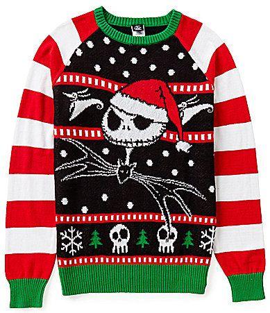 Disney's The Nightmare Before Christmas Jolly Pumpkin King Jack Skellington Christmas Sweater