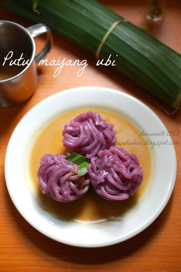 Putu mayang ubi ungu