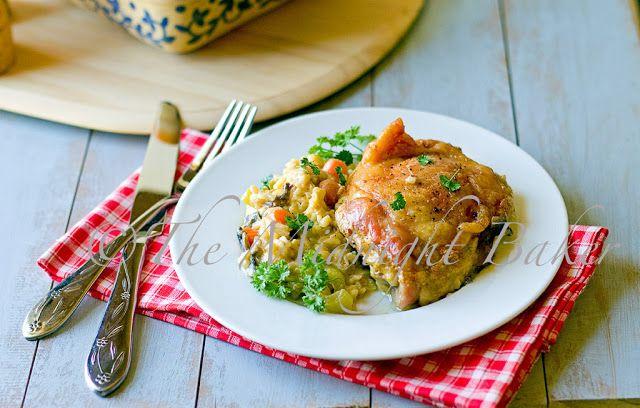 Курица со сливочным коричневый рис (готовится просто)