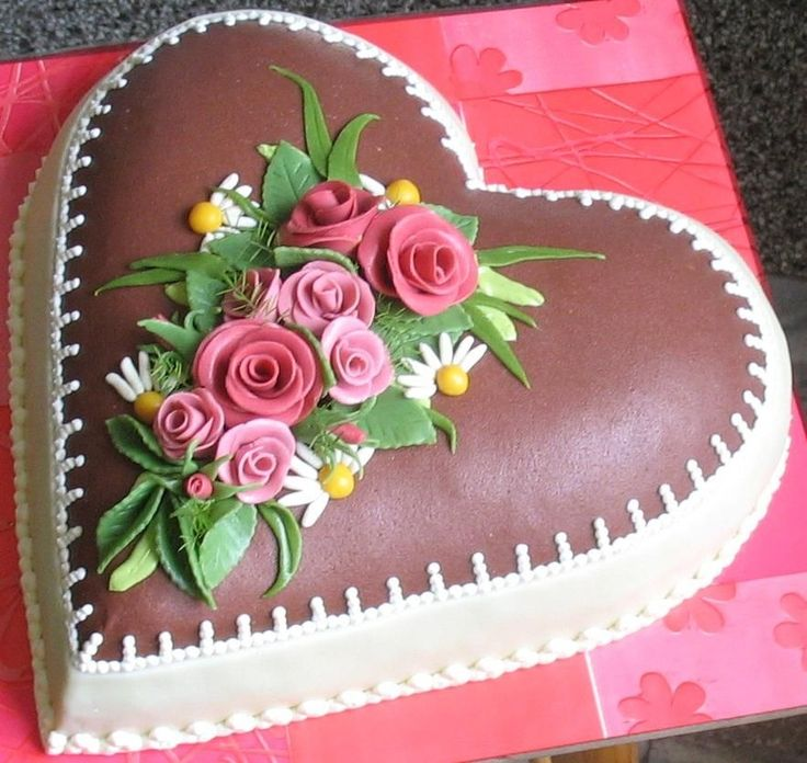 38 Best Heart Shaped Cakes Images On Pinterest