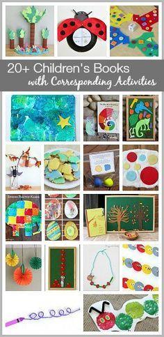 Over 20 Activities for Kids Inspired by Popular Children's Books! ~ http://BuggyandBuddy.com