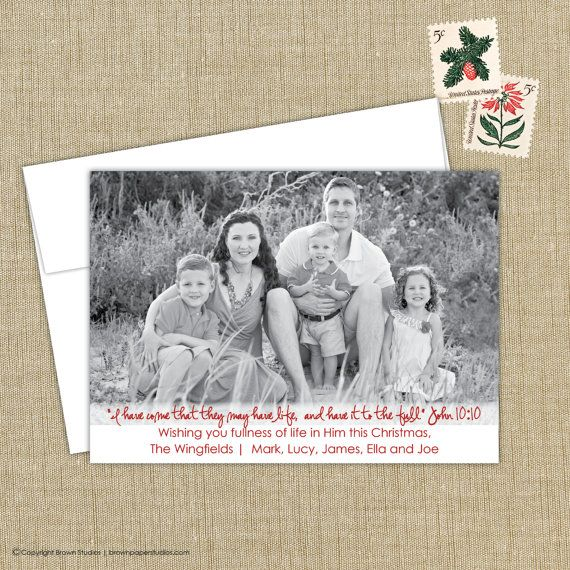Religious Christmas Cards. Christian Photo Christmas Cards . religious christmas photo card. John 10:10