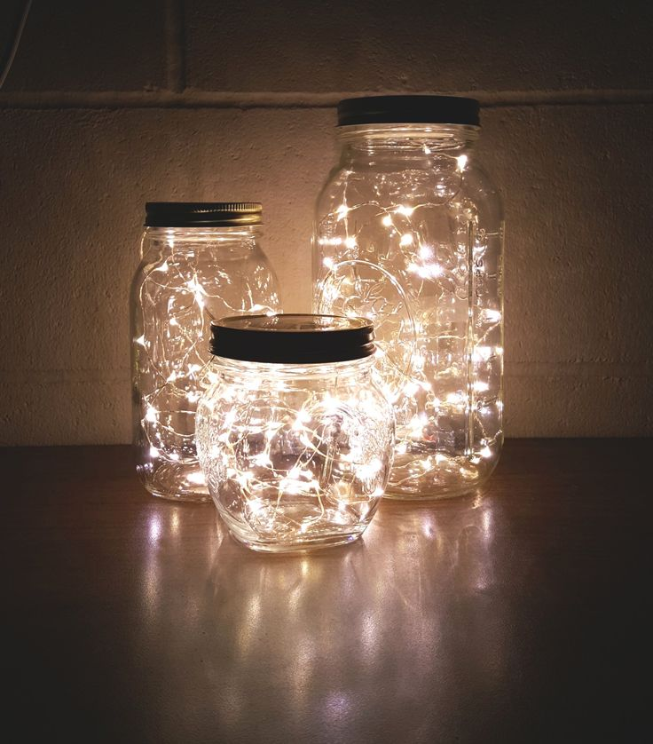 Check out the simple #DIY we made in just 10 minutes! All you need is a mason jar and your favorite color of micro-LED strings. Click the picture for our selection! http://amzn.to/2s1qN4p