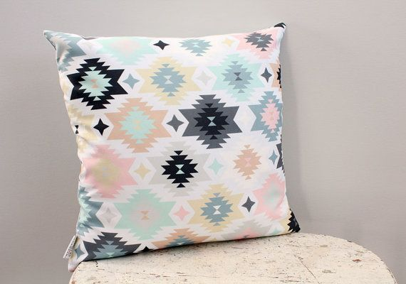 Pillow cover blush aztec 18 inch 18x18 modern hipster by PETUNIAS