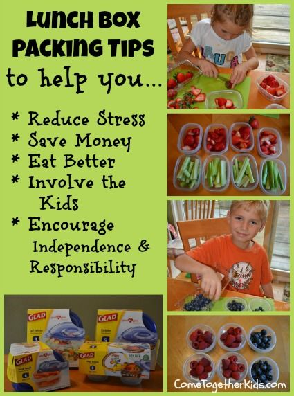 Lunch Box Packing Tips ~ several good tips to make this chore a little easier on mom (and good for the kids too!)