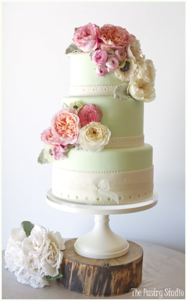 Mint Green Vintage Wedding Cake Further Mint And Gold Wedding Cake ...