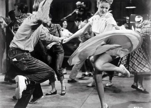 50s couple swing dancing #swingdance #1950s #dancing