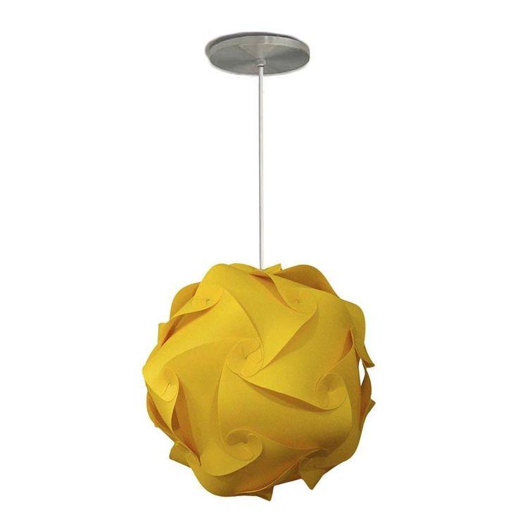 Pendente Orbit Amarela Média (35cm Diâmetro)