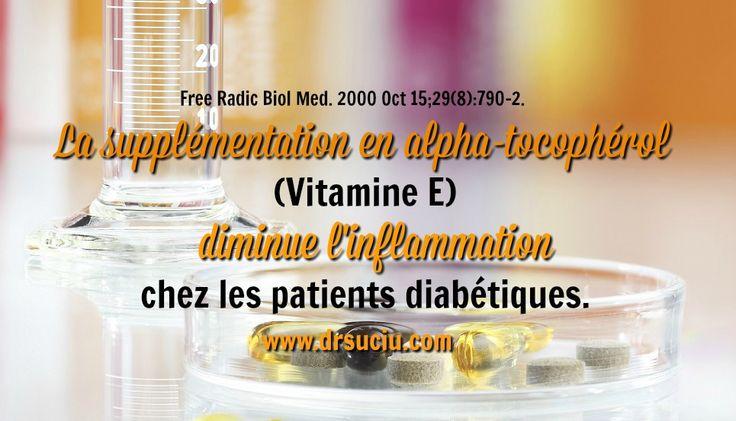 Le diabète et la supplémentation en Vitamine E