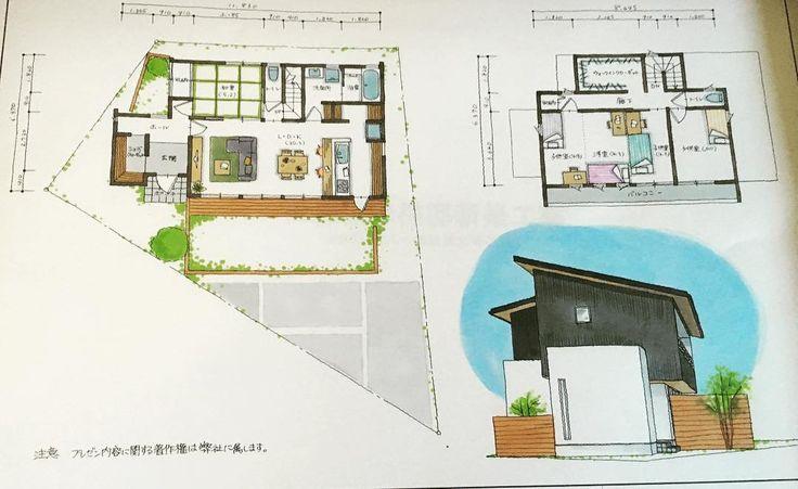 子供部屋を2部屋でも3部屋でもできる間取り  変わった土地も建物もお任せあれ。 設計士と一緒につくる家  #グランハウス #岐阜の設計事務所# #間取り#外観#間取り図 #子供部屋 #土地探し #パントリー#土間収納 #かっこいい家 #坪庭#箱庭 #注文住宅#マイホーム