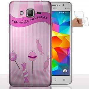Coque portable Galaxy Grand Prime Candys | Housse Silicone. #GrandPrime #Coquetelephone #G351F #Bonbons