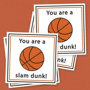 free {printable} basketball valentines {these would be cute to hand out at the boys next basketball game} #basketball #valentine