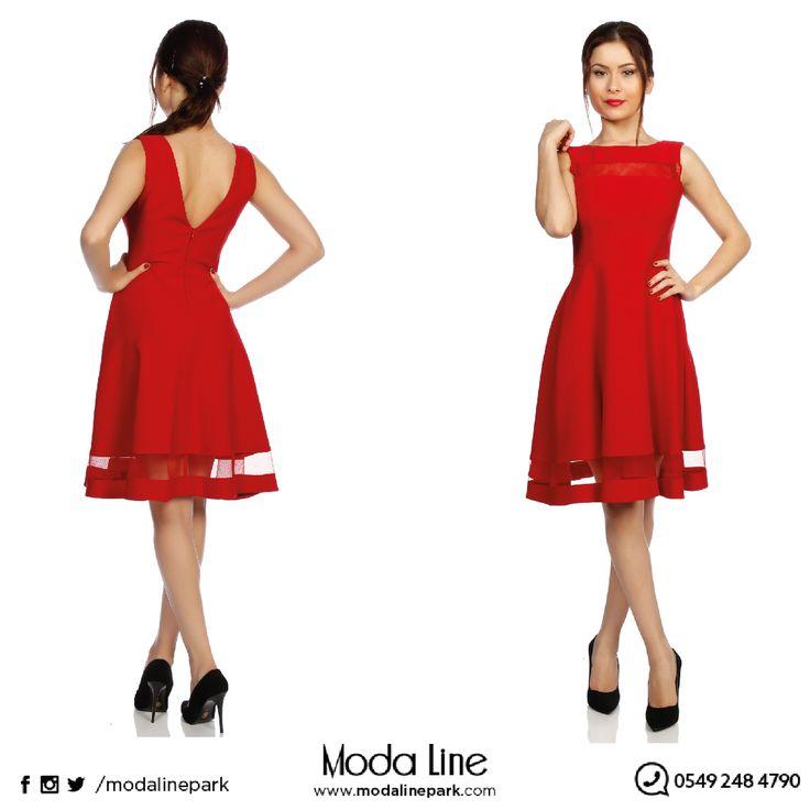 Kırmızının eşsiz güzelliği.. Ürüne ulaşmak için : http://goo.gl/L3FXua Online alışveriş için : www.modalinepark.co