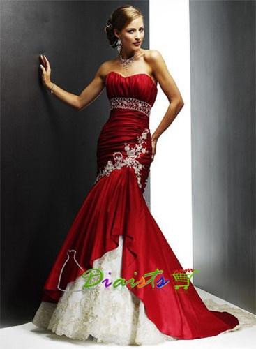Neuf bordeaux taffetas robe de mariée mariage 0248 sur mesure taille 32 - 54