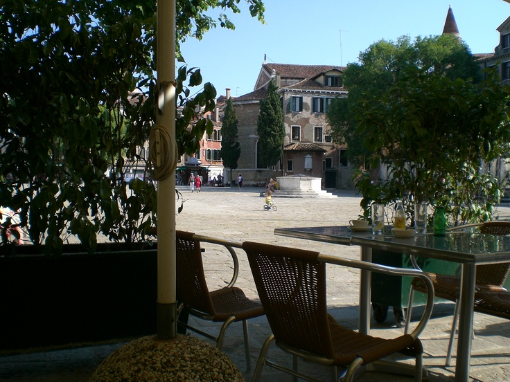 A shaded market square in Italy - many cappucinos, fond memories, good times
