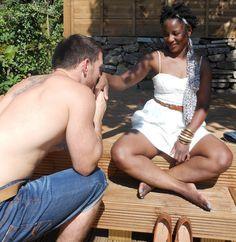 Muah. What woman doesn't love having her hand kissed ... #bwwm #wmbw #love #swirldating #blackwhitedating