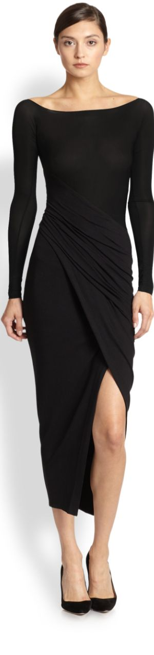 Simple yet bold (long sleeves make for an elegant silhouette) --> DONNA KARAN