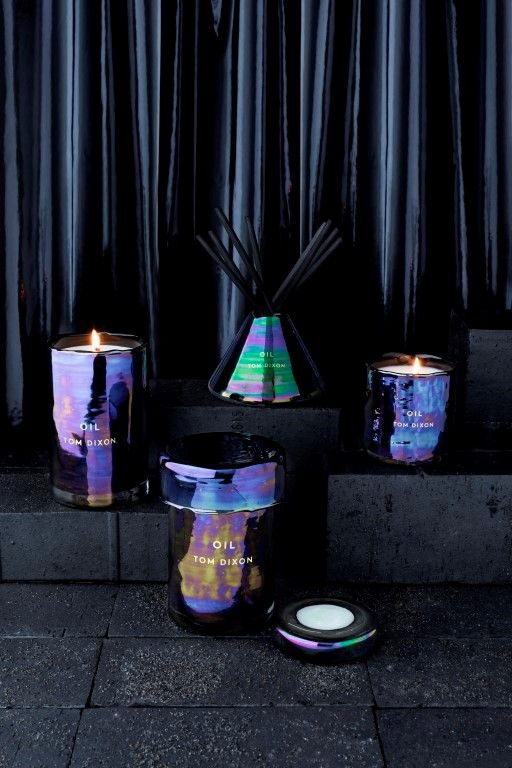 Iridescent candles and diffuser from Tom Dixon