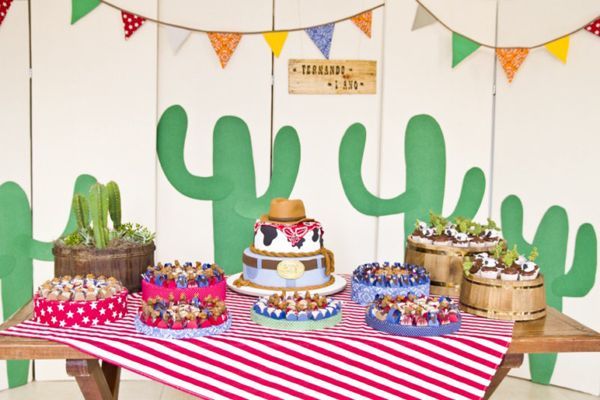 make a cactus pattern to duplicate for a Mexican food theme/note the colorful garland