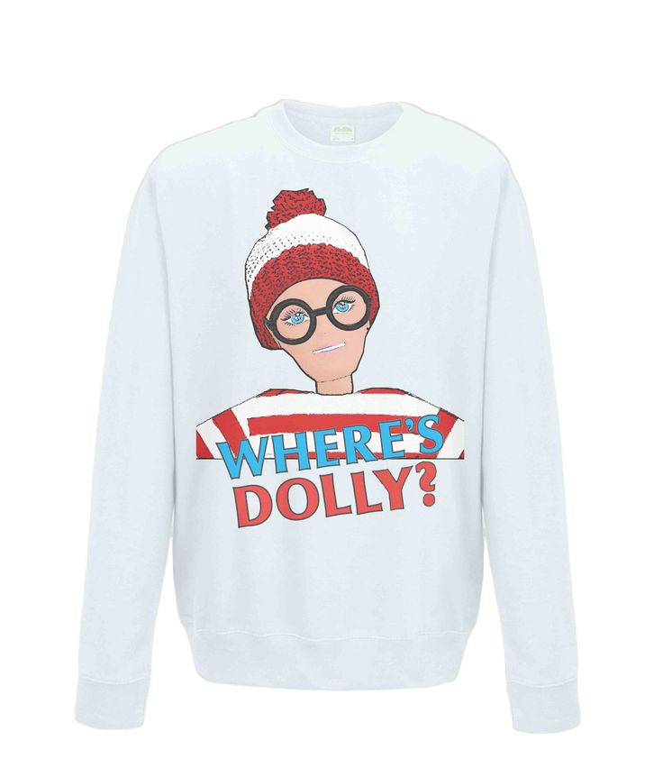 Funny Sweatshirt. Where's Dolly? Wally/Waldo, Humour, Stripes, Spectacles, Bobble Hat, Cartoon Inspired Quirky Art & Gifts by PlasticpamDesign on Etsy