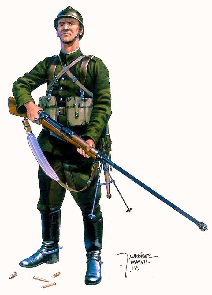 Kampania wrześniowa 1939 Ułan, 12 Pułk Ułanów Podolskich z karabinem przeciwpancernym wz. 35 kalibru 7,92 mm. Rys. Jarosław Wróbel. https://www.facebook.com/wojskopolskie19391945/photos/a.376644045867274.1073741828.376641135867565/376671159197896/?type=1