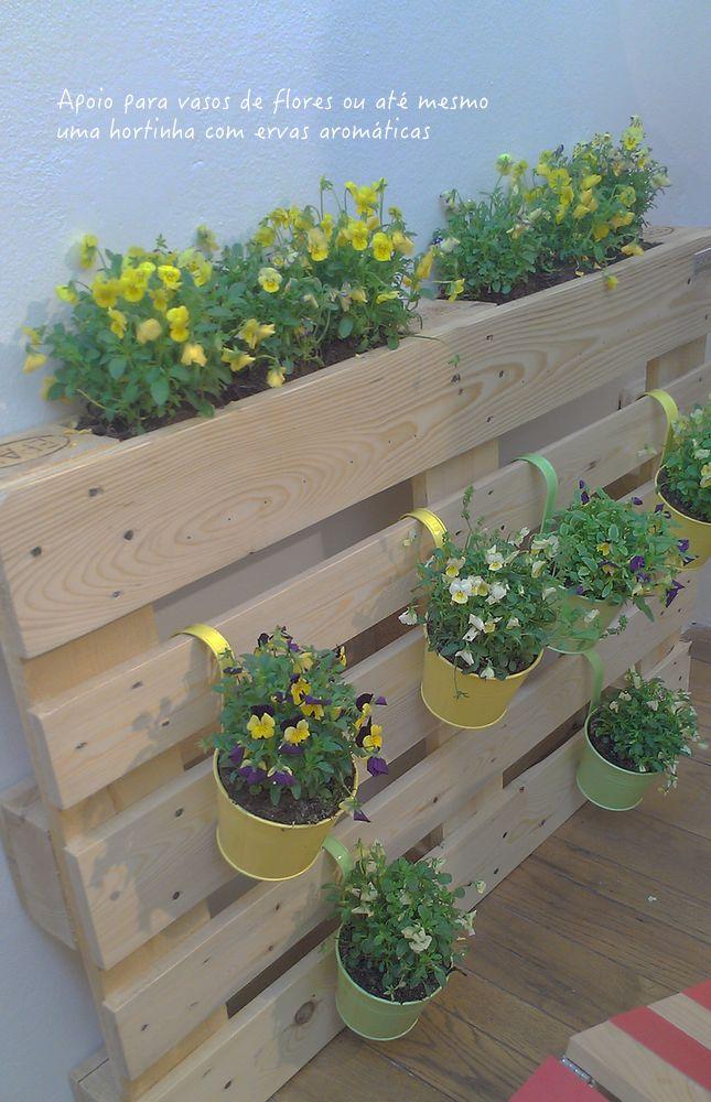jardineira de pallate jardim hortas decoração jardim plantas