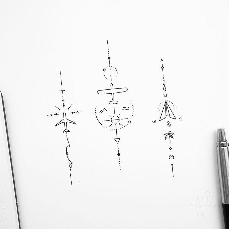 Minimalist Geometric Tattoos Tattoo Ideas In 2020 Small Geometric Tattoo Travel Tattoo Small Geometric Tattoo Meaning