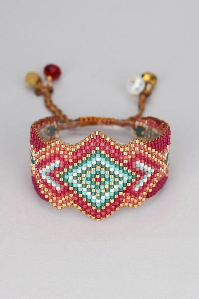 Bracelet - rocky-be-l-1877 - Red/Burgundy Mishky on MonShowroom.com