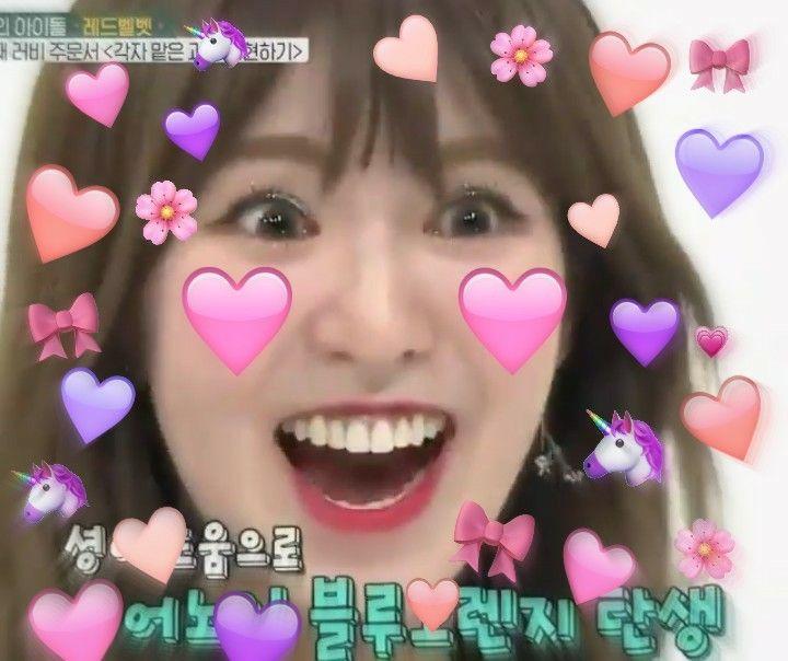 Wendy Red Velvet Kpop Meme Heart Love Dekorasi