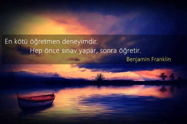 Benjamin Franklin Sözleri