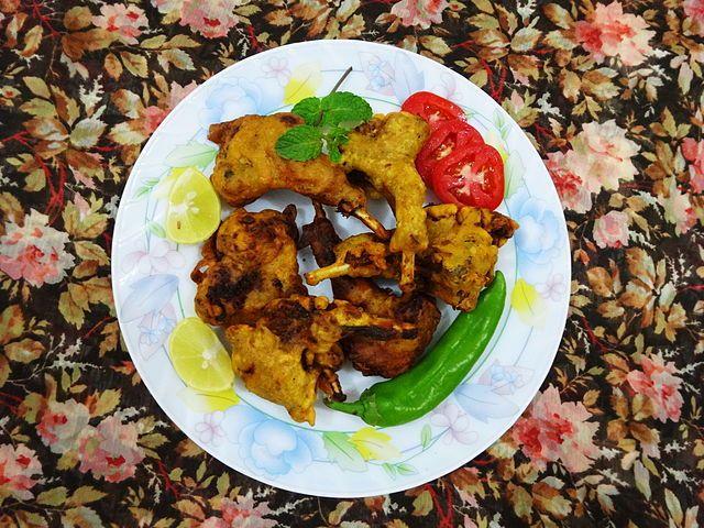 Cuisine of Karachi: Kabargah (Kashmiri Fried Chops)   قبر گاہ کشمیری ف...