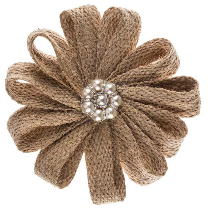 The 25 best ideas about jute flowers on pinterest for How to make hessian flowers