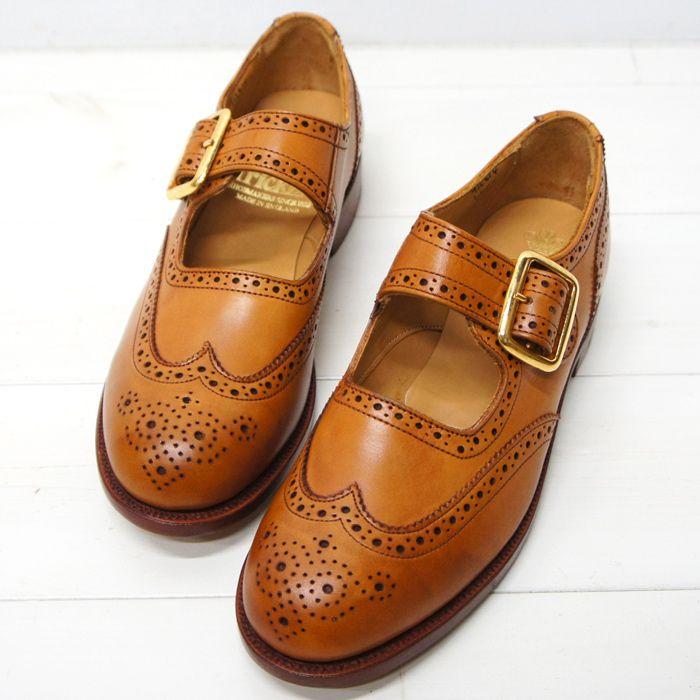 Tricker's(トリッカーズ)Mary Jane Shoes(メリージェーンシューズ)レザーソール/1001 Burnished - タイガース・ブラザース本店オンラインショップ