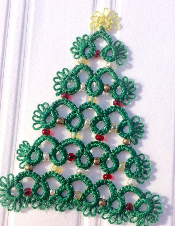 Tatted Christmas decoration by MyCraftyStitches on Etsy