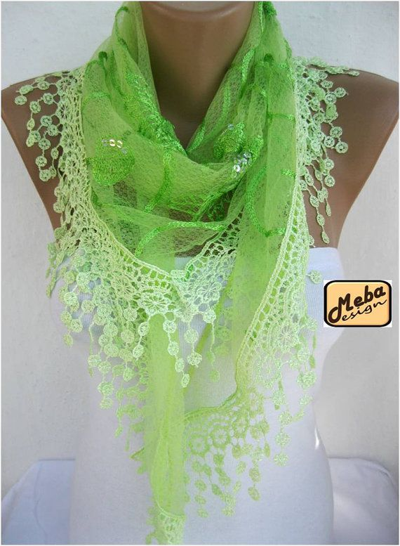 Lace scarf women scarves  guipure gift Ideas For Her by MebaDesign