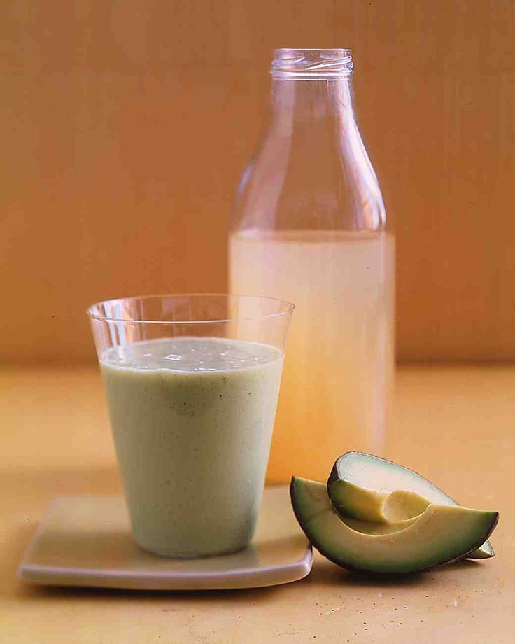 (IF I'm feeling REALLY adventurous!!) Avocado-Pear Smoothie - 1 ripe Hass avocado (about 7 ounces) 1/2 cup silken tofu, drained 1 cup pear juice 2 tablespoons honey 1/2 teaspoon pure vanilla extract 2 cups ice