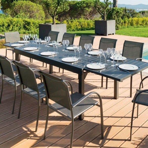 Salon De Jardin Sesimbra Blanc 5 Places Salon De Jardin Table Et Chaise Mesa Y Sillas Mesa Exterior Sillas Exterior