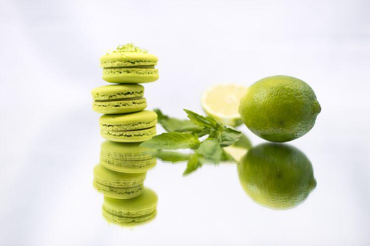 Lime macarons - Boheme delices francaises