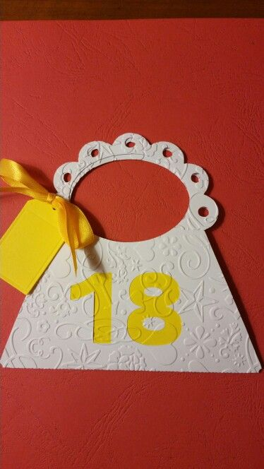 Borsetta Biglietto 18 esimo compleanno